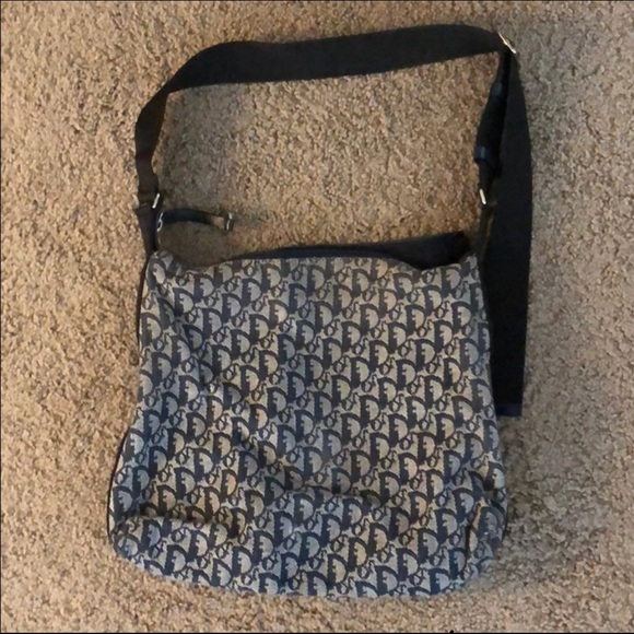 Christian Dior Handbags - Christian Dior Blue Monogram Sling Bag c7b544b77fcd3